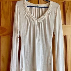 Women's BR V-Neck Stretch LS Top, Small